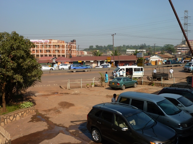 View from the hotel: Entebbe Road