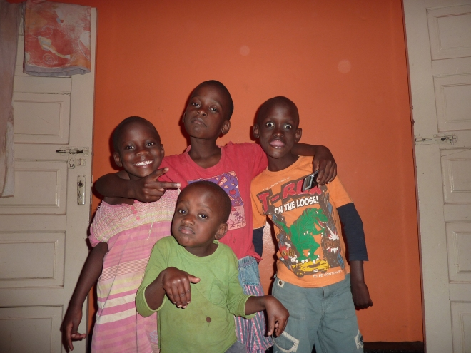 My host brothers and sisters: Fahd (8), Ark (7), Nassu (6) and Mohamad (4)