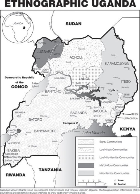 Ethnographic map of Uganda