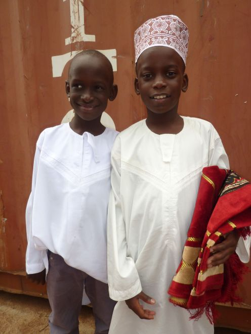 Fahad and Ark ready for the mosque
