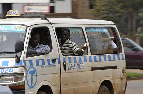 A taxi conductor in Kampala Photo: Red Pepper